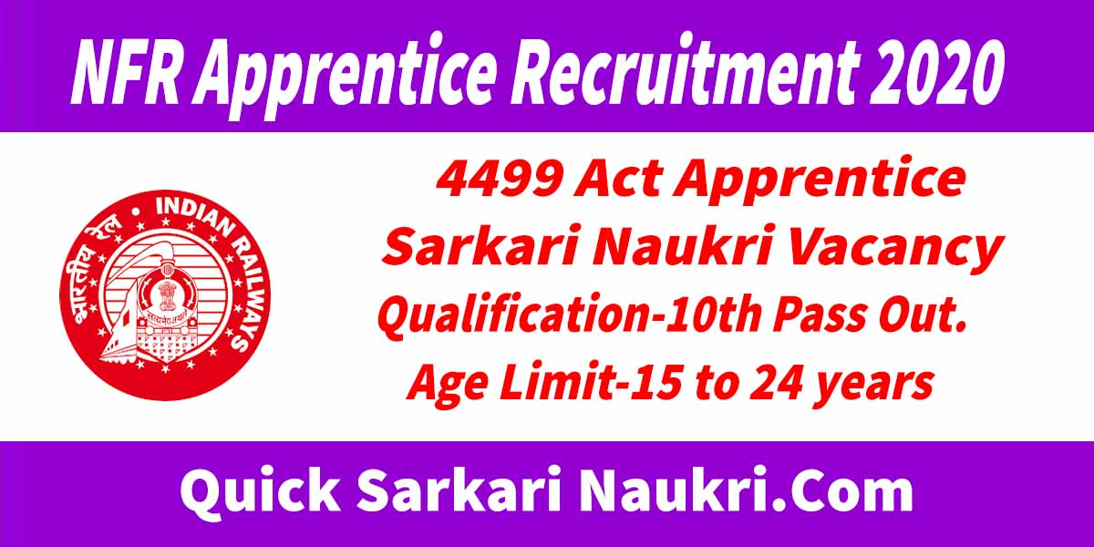NFR Apprentice Recruitment 2020 Salary – Full Notification