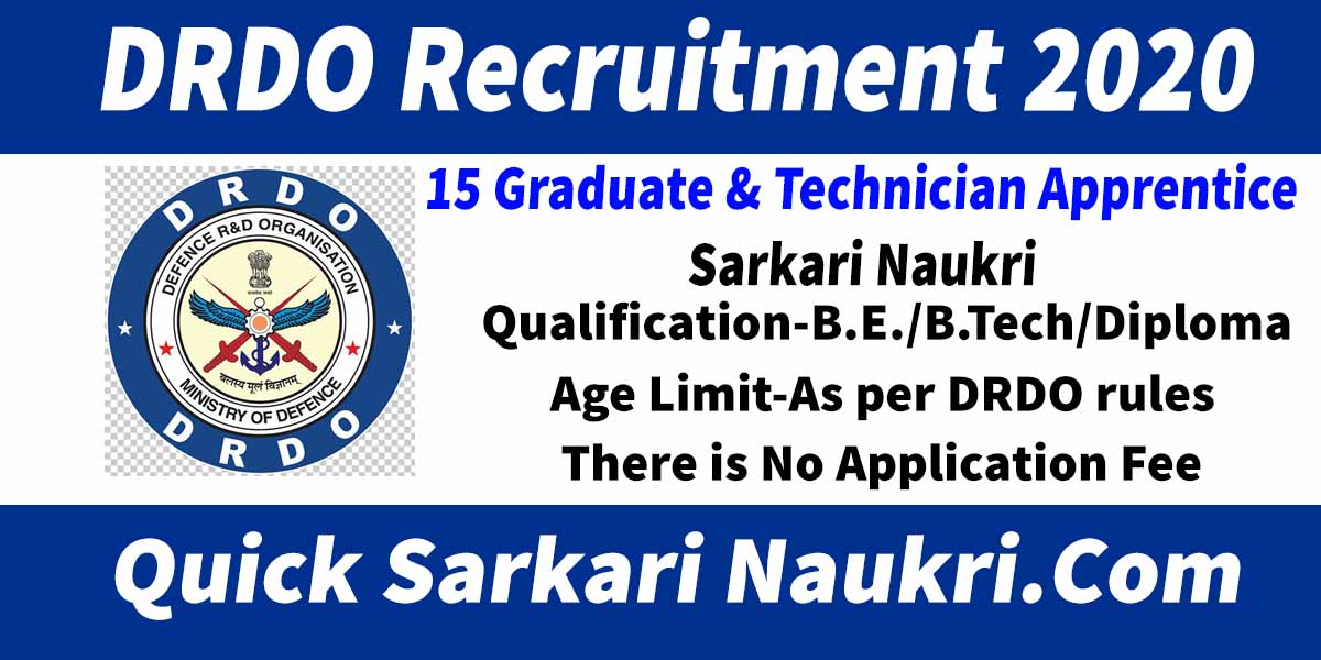 DRDO Recruitment 2020 Salary Full Details
