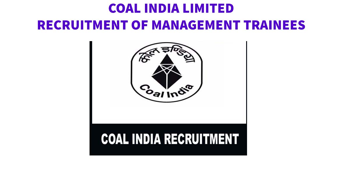Coal India Management Trainee Online Form 2019