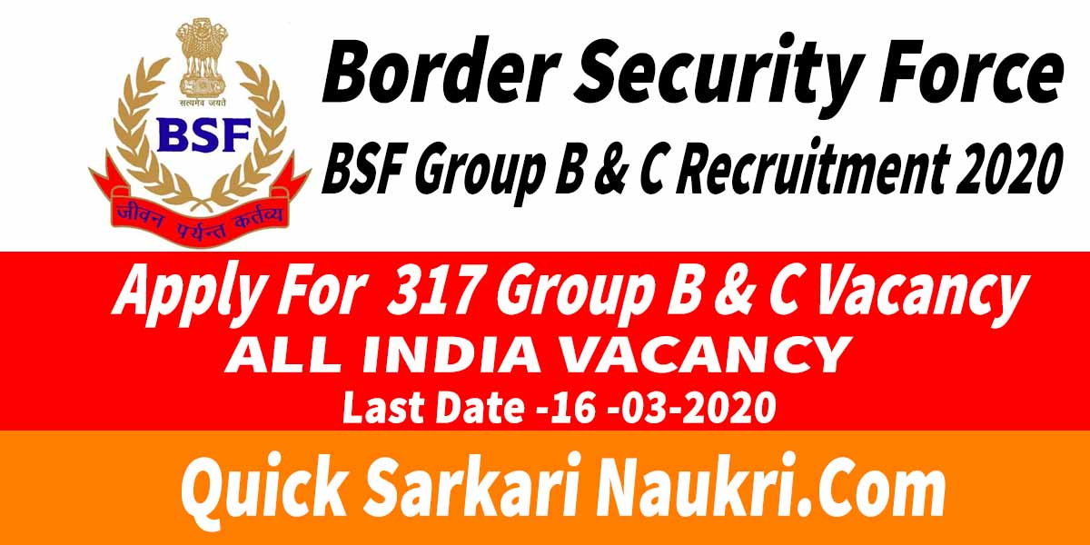 BSF Group B & C Recruitment 2020