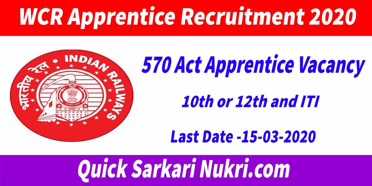 WCR Apprentice Recruitment 2020