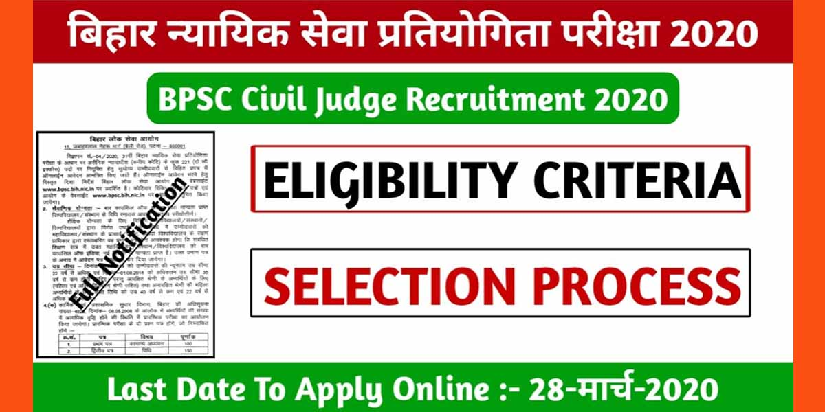 BPSC Civil Judge Recruitment 2020 -Salary