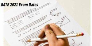 GATE 2021 Exam Dates