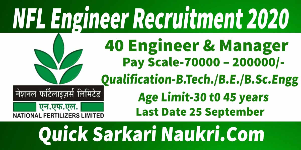 NFL Engineer Recruitment 2020 Salary