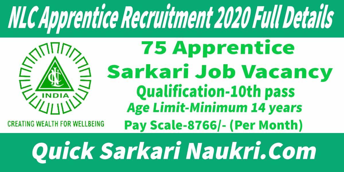 NLC Apprentice Recruitment 2020 Full Details