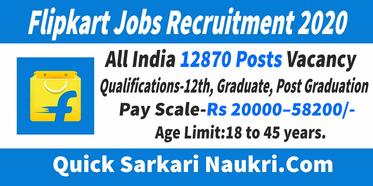 Flipkart Jobs Recruitment 2020