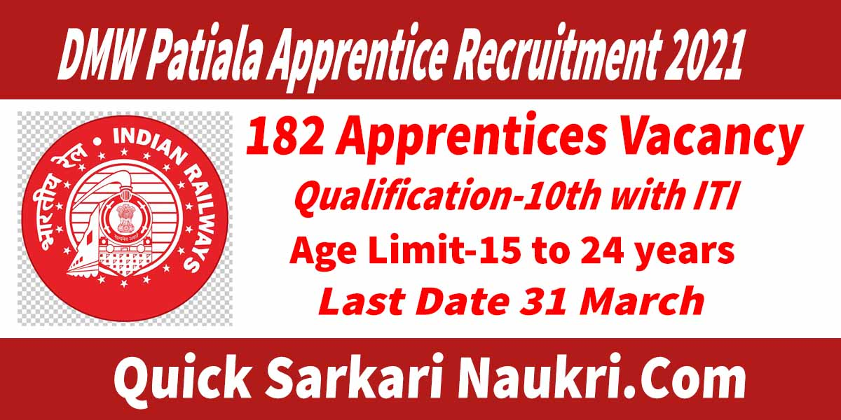 DMW Patiala Apprentice Recruitment 2021 Salary